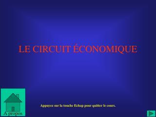 LE CIRCUIT  CONOMIQUE