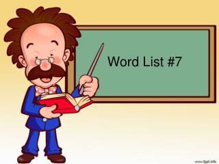 Word List #7