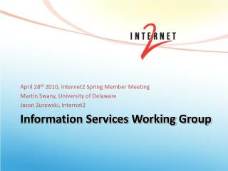 Information Services Working Group
