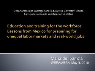 Departamento de Investigaciones Educativas, Cinvestav. México