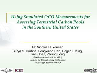 Using Simulated OCO Measurements for Assessing Terrestrial Carbon Pools in the Southern United States