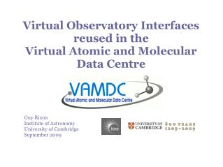 Virtual Observatory Interfaces  reused in the  Virtual Atomic and Molecular  Data Centre