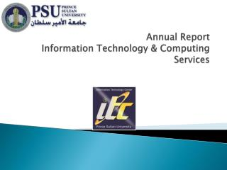 Annual Report Information Technology & Computing Services