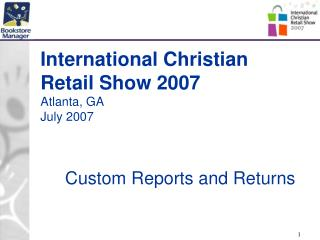 International Christian Retail Show 2007 Atlanta, GA July 2007