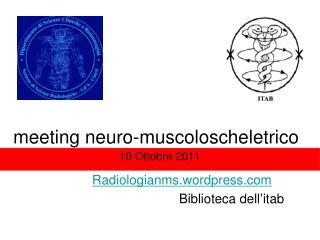 meeting neuro-muscoloscheletrico