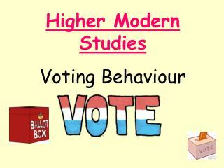 Higher Modern Studies Voting Behaviour