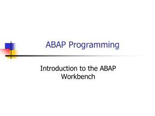 ABAP Programming