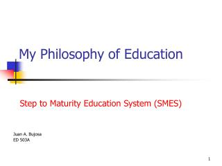 My Philosophy of Education