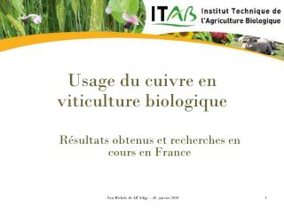 Usage du cuivre en viticulture biologique