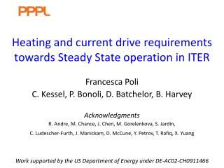 Heating and current drive requirements towards Steady State operation in ITER