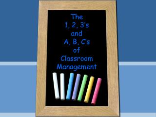 The  1, 2, 3 s  and  A, B, C s  of  Classroom Management