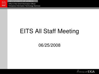 EITS All Staff Meeting