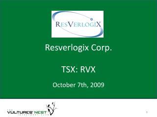 Resverlogix Corp.