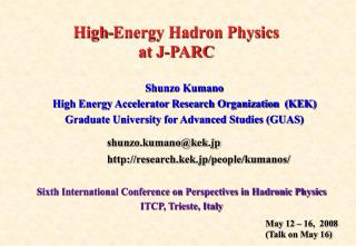 High-Energy Hadron Physics at J-PARC