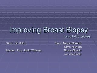 Improving Breast Biopsy using  IVUS probes
