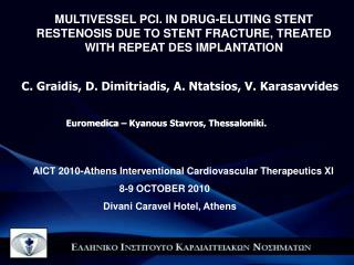 AICT 2010-Athens Interventional Cardiovascular Therapeutics XI