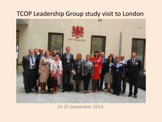 TCOP Leadership Group study visit to London