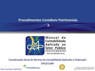 Procedimentos Cont�beis Patrimoniais  II