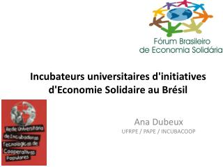 Incubateurs universitaires d'initiatives d'Economie Solidaire au Brésil