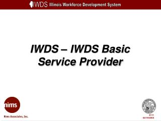 IWDS – IWDS Basic Service Provider