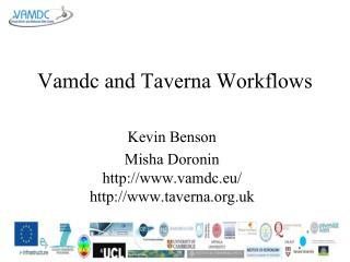 Vamdc and Taverna Workflows