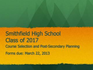 Smithfield High School Class of 2017