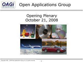 Opening Plenary October 21, 2008