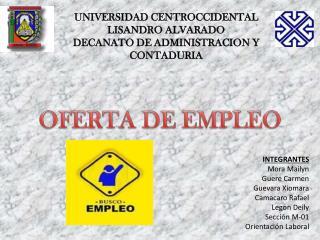 UNIVERSIDAD CENTROCCIDENTAL LISANDRO ALVARADO DECANATO DE ADMINISTRACION Y CONTADURIA