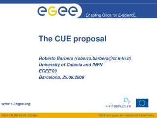 The CUE proposal