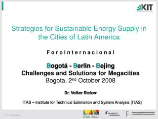 Strategies for Sustainable Energy Supply in the Cities of Latin America