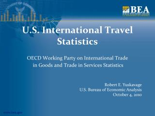 U.S. International Travel Statistics