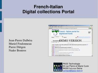 French-Italian Digital collections Portal