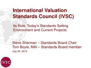 International Valuation Standards Council (IVSC)