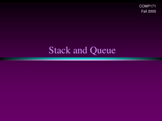 Chapter 4: Stacks  Queues