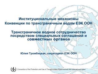 Институциональные механизмы  Конвенции по трансграничным водам ЕЭК ООН