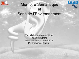 Mémoire Sémantique et Sons de l'Environnement