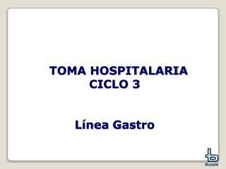 TOMA HOSPITALARIA  CICLO 3 Línea  Gastro