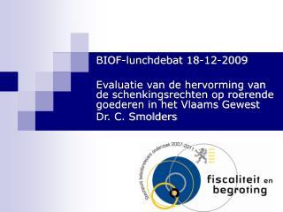 BIOF-lunchdebat 18-12-2009