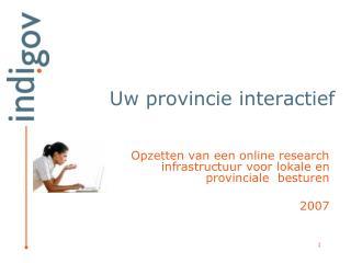 Uw provincie interactief
