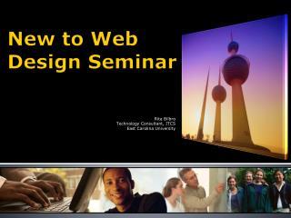 New to Web Design Seminar