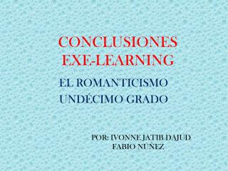 CONCLUSIONES EXE-LEARNING