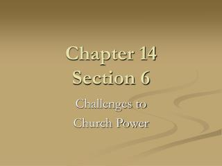 Chapter 14 Section 6