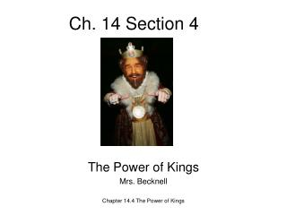 Ch. 14 Section 4