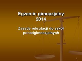 Egzamin gimnazjalny 2014