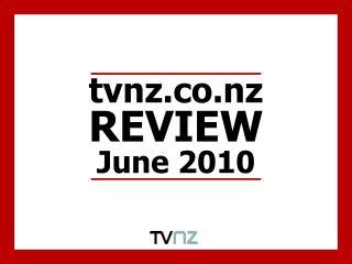 tvnz REVIEW June 2010