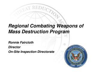 Regional Combating Weapons of Mass Destruction Program
