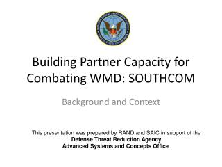 Building Partner Capacity for Combating WMD: SOUTHCOM