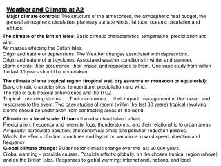 Weather and Climate at A2