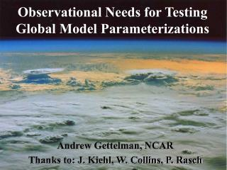 Observational Needs for Testing Global Model Parameterizations
