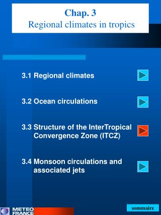 Chap. 3 Regional climates in tropics